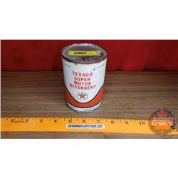 "Texaco ""Super Motor Detergent"" 15oz Tin (Full) (4-3/8"" x 3""Dia)"