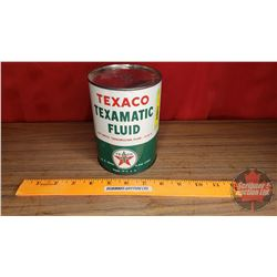 "Texaco ""Texmatic Fluid"" (Full 1 US Quart) (5-1/2""H x 4""Dia)"