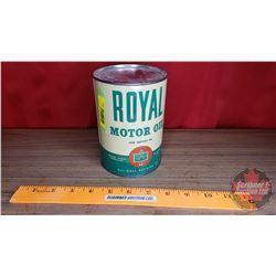 "En-Ar-Co Royal Motor Oil Tin (5-1/2""H x 4""Dia)"