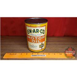 "En-Ar-Co Motor Oil Tin (5-1/2""H x 4""Dia)"
