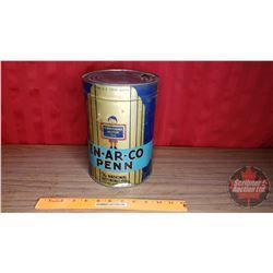 "En-Ar-Co Penn Motor Oil Tin (5 US Liquid Quarts) (9-1/2""H x 6-5/8""Dia)"