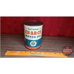 "En-Ar-Co C Motor Oil Tin (5-1/2""H x 4""Dia)"