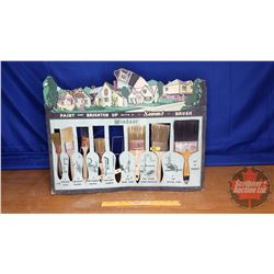 "Cardboard Wood & Wire Store Countertop Paint Brush Display (21""H x 26""W x 10""D)"