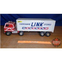 """Toy Truck & Trailer ERTL """"Link Hardware Stores"""" (7-1/2""""H x 22""""L x 5""""W)"""