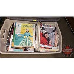 "Tote Lot: Magazines (Seventeen, Chatelaine, McCall's, American, etc) (Large TOTE: 137lbs) (18""H x 31"