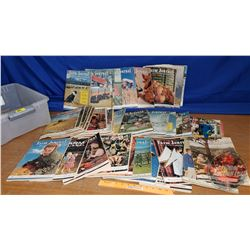 """Tote Lot: Magazines (Farm Journal) (26lbs) (7""""H x 20""""W x 14-1/2""""D)"""