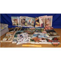 """Tote Lot: Magazines (Farm Journal) (18lbs) (7""""H x 20""""W x 14-1/2""""D)"""