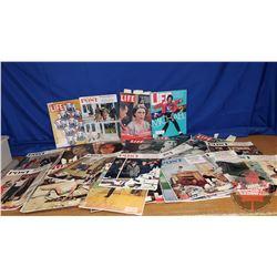 "Tote Lot: Magazines (Life Magazine & Saturday Evening Post) (35lbs) (7""H x 20""W x 14-1/2""D)"