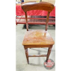 """Wooden Bar Stool (44""""H x 18""""W x 17""""D)"""