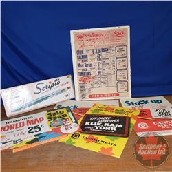 Back to School Vintage Ads (7pcs) (Paper & Cardboard)