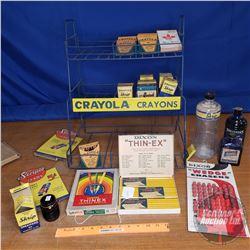 "Crayola Crayons Store Display (w/Crayons, Erasers, etc) (20""H x 17""W x 12""D)"