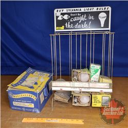 "Sylvannia Light Bulbs Store Display w/Bulbs (22""H x 13""W x 7""D)"
