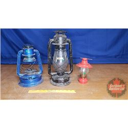 Lantern Trio: Beacon Barn, Dietz (No Globe), Small Red Novelty