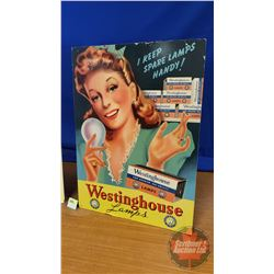 "Cardboard Self-Standing Advertising for Westinghouse  (23""H x 16-1/2""W)"