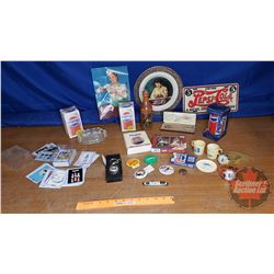 Box Lot: Pepsi Merchandise (Incl. Wrist Watch, Cards, Lic Plate, etc)