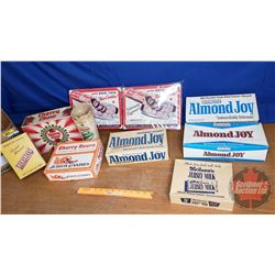 Box Lot: Vintage Confectionery Boxes (Incl. Baby Ruth, Almond Joy, Cherry Sours, etc)