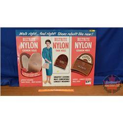 "Tin Sign : Biltrite Nylon Heels & Soles (20""H x 27-1/2""W)"