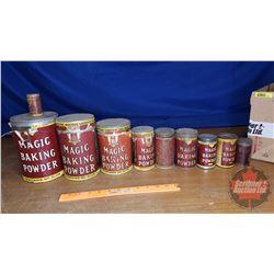 Box Lot: Magic Baking Powder Tin Collection (10)