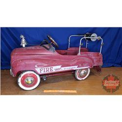 """Pedal Car """" Glide Ride - Fire Dept."""" (20""""H x 50""""W x 39""""L)"""