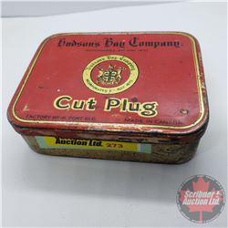 "Hudson's Bay Company Cut Plug Tobacco Tin (1""H x 3-1/2""W x 2-3/4""L)"