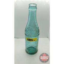 """Blue Coca Cola Bottle c.1910's (7-3/4""""H)"""