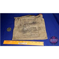 "South African Water Bag ""Pioneer"" Brand w/1976 Trapper Trade Dollar"