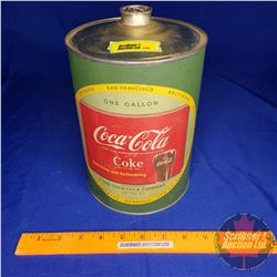 "Coca-Cola Syrup Tin (1 Gal) Paper Label (9-1/2""H x 6"" Dia) (See Pic)"