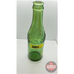 "GREEN Coca Cola Bottle c.1910's (7-3/4""H)"