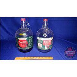 Coca-Cola Syrup Glass Jug (2) (See Pics)