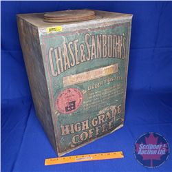"Chase & Sanborn's ""High Grade Coffee"" Large Tin (20""H x 13-1/4""W x 13-1/4""D)"