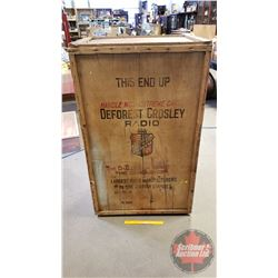 "Deforest Crosley Radio Crate - Large (51-1/2""H x 31-1/4""W x 21-1/2""D)"