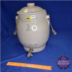"Medalta Ice Water Crock 3gal (15""H Total Height)"