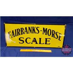 "Enamel Sign ""Fairbanks - Morse Scale"" (24""W x 10""H)"