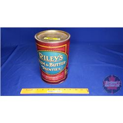 "Riley's Rum Butter Dainties Tin (9""H x 6""Dia)"
