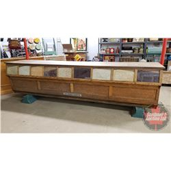 "Incredibly RARE! Antique Oak General Store Counter ""The Sherer Counter"" (Seed Display Front) (34""H x"