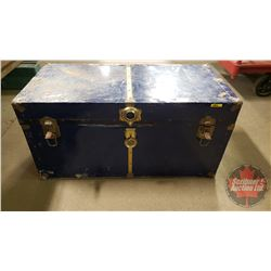 "Blue Tin Trunk (18""H x 36""W x 18""D)"