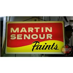 "Light Up ""Martin Senour Paints"" Sign (14""H x 25""W x 3-1/2""D)"
