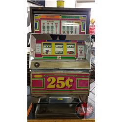 Slot Machine: 1987 Bally's 25 Cent E Series (2 Coin) Lights Up / Makes Noise / Spins but reels don't