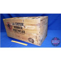 "Wood Crate ""La Crosse Rubber Footwear"" ""Standard Railroad Container 1912 Patent"" comes with New/Old"