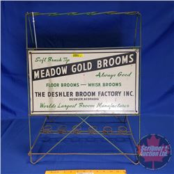 "Store Display ""Meadow Gold Brooms"" (24""H x 18""W x 13""D)"