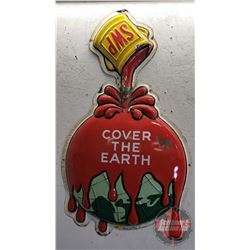 "Enamel Sign ""SWP"" ""Cover the Earth"" (45""H)"