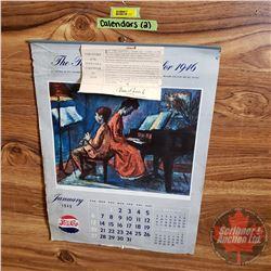 Pepsi Calendars (2) 1943 & 1946 (Both Complete)