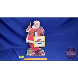 "Pepsi-Cola Santa Cardboard Counter Top Cut Out (19""H)"