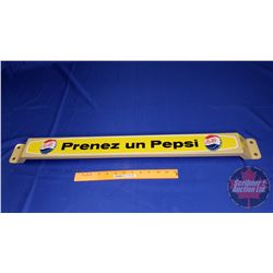"Pepsi-Cola Door Push ""Prenez un Pepsi"" (31-1/2""L x 3""H) (Bottle Cap Logo)"