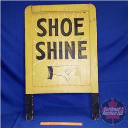 """""""Shoe Shine"""" Wooden Sandwich Board (36""""H x 22-1/2""""W)"""