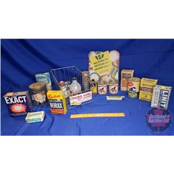 """The Chore Girl Pot Cleaner"" Store Display Wire Basket with a Variety of Household Cleaners, Tins, B"