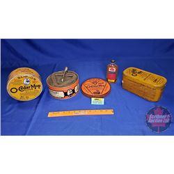O-Cedar Mop Tins (3) & Polish Bottle (Full)