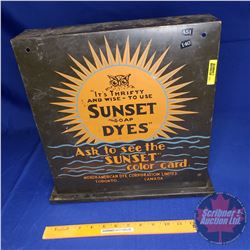 """Sunset Soap Dyes"" Tin Counter Top Display (14-1/2""H x 14-3/4""W x 4""D)"