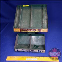 "Store Display for Gum & Mints w/Paper Tape Dispenser built in the back (see pic) (10-1/2""H x 8""W x 1"