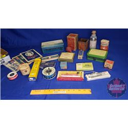 Tray Lot: Vintage First Aid Items (Bottles, Boxes, Almanacs, etc) (See Pics)